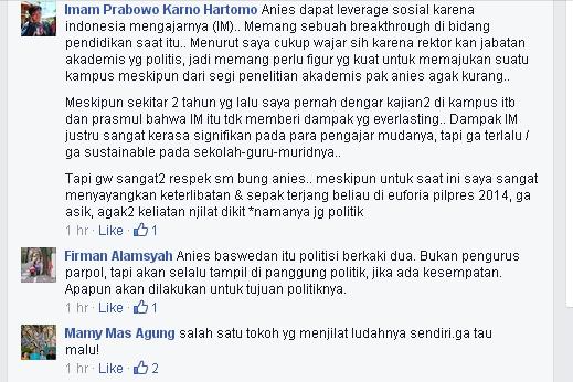 Anis Baswedan Komentar Rakyat