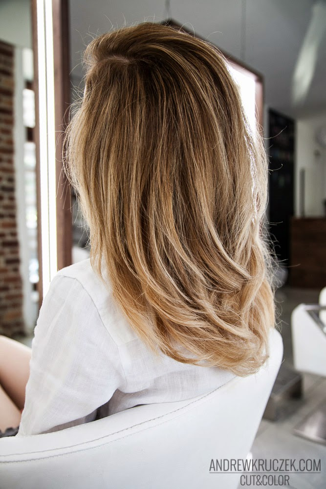 Andrzej Kruczek Cut And Color Flamboyage Effect On Blond Hair