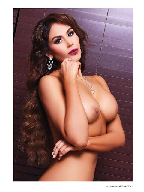 Tania Reza pensante en playboy enero 2016