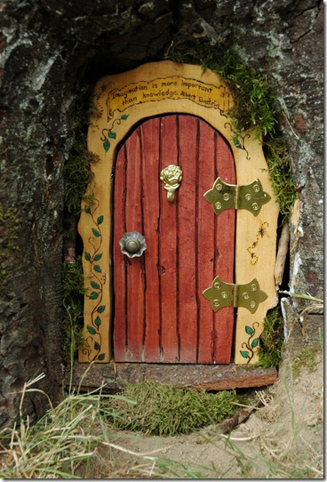 ... Taking Your Little Princess (or Prince Lol) A Walk In Your Local Park  To Suddenly Come Across Something As Magical As This. A Real Fairy Life Door !!!