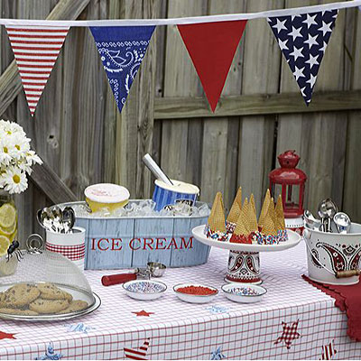 4th of July ice cream party idea