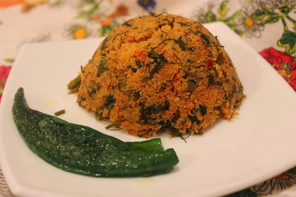 Farfoucha (Couscous végétarien aux verts de fenouil)