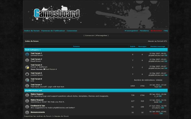 Free Grunge Blue Black Games Phpbb Skin Theme