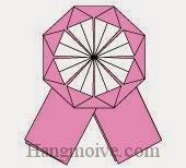 Bước 13: Hoàn thành cách gấp huy chương, huy hiệu bằng giấy theo phong cách origami.