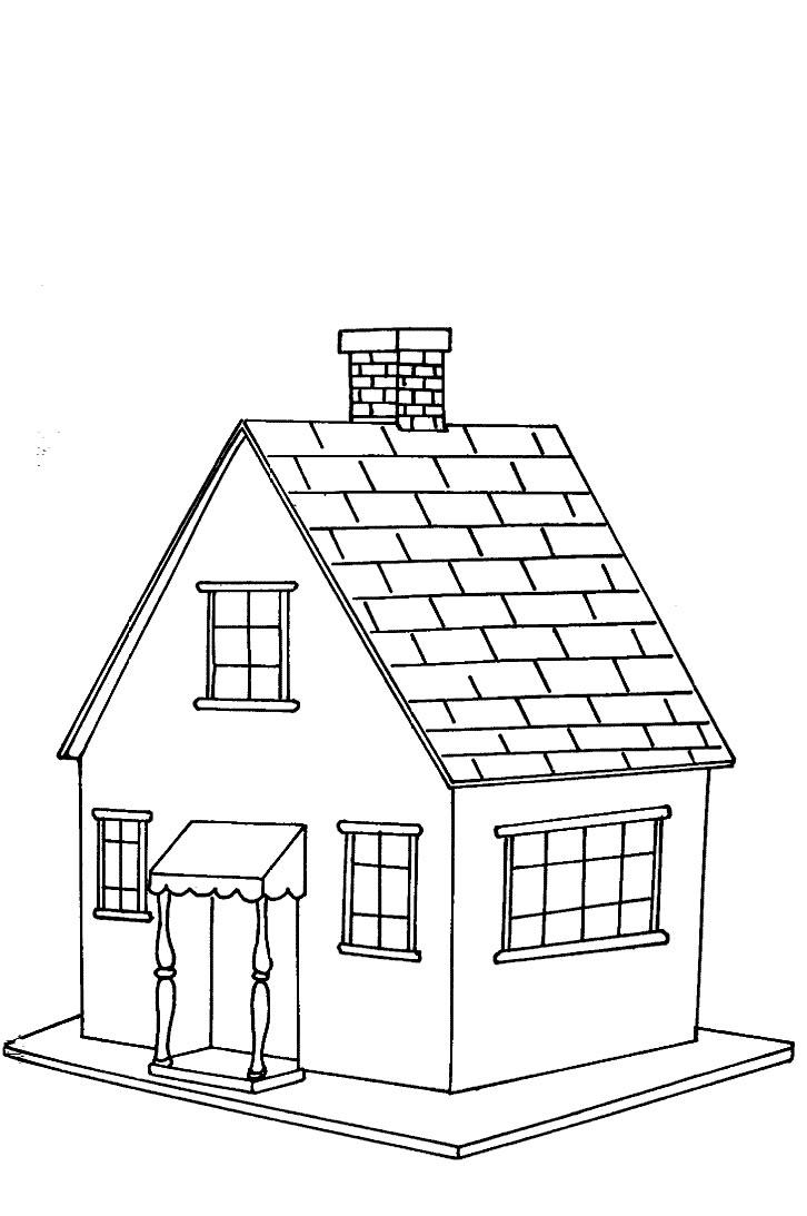 Casas para colorear dibujos infantiles imagenes cristianas for Diferentes colores para pintar una casa