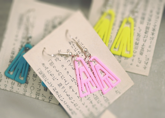 earrings from paper clips by gretchen gretchen