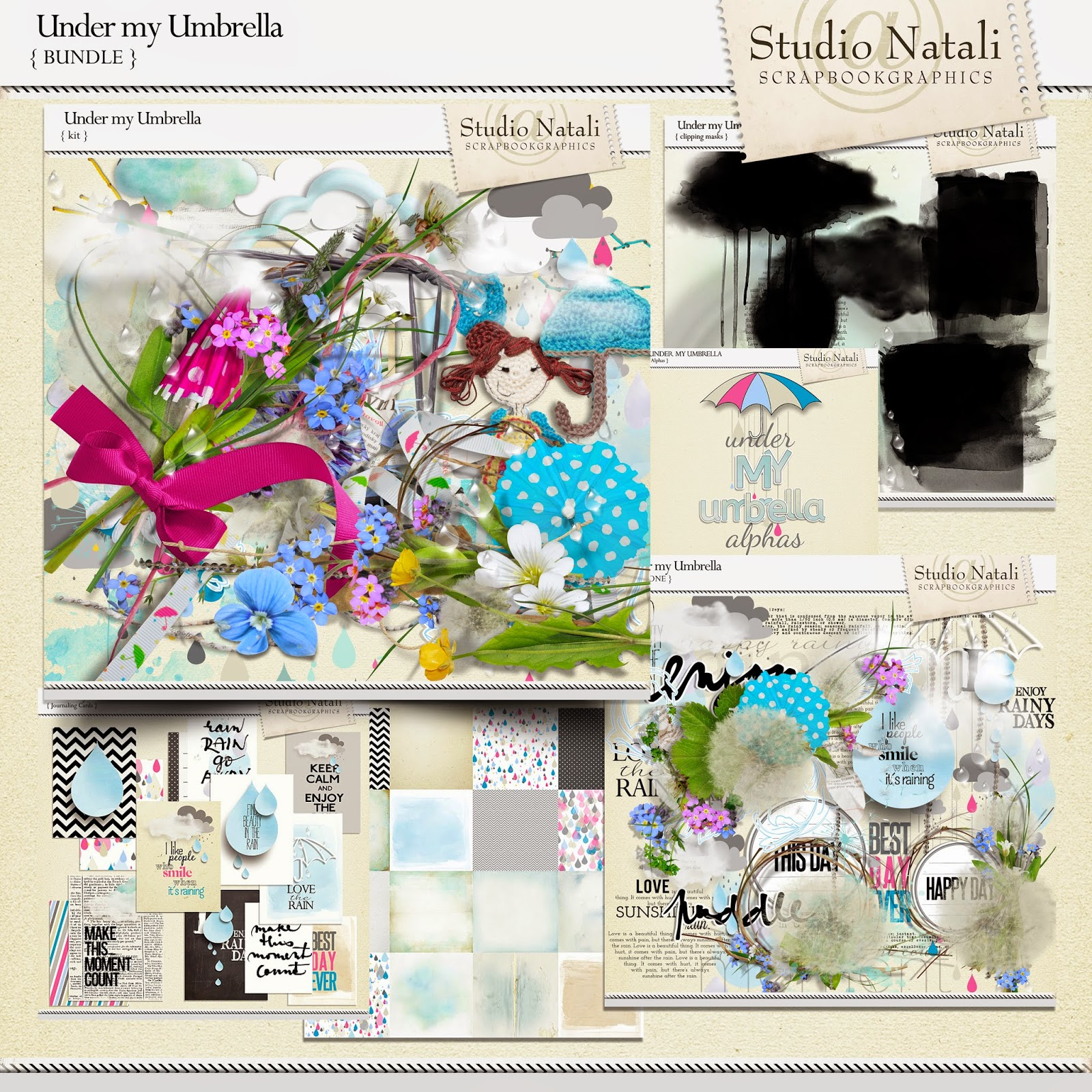 http://shop.scrapbookgraphics.com/Under-my-Umbrella-Bundle.html