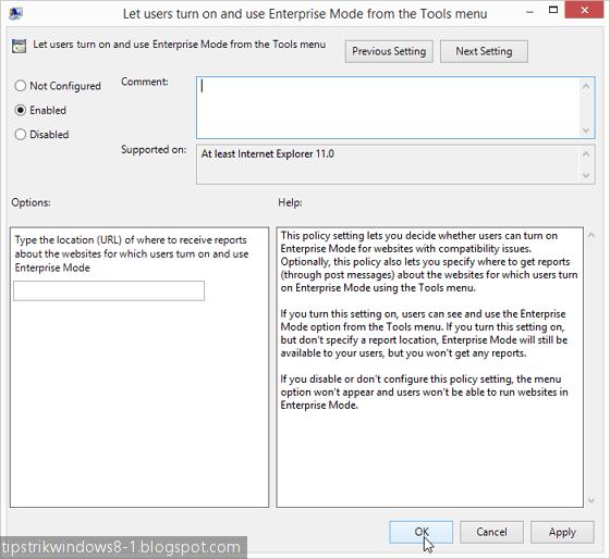 Cara Mengaktifkan Enterprise Mode pada Internet Explorer 11 3