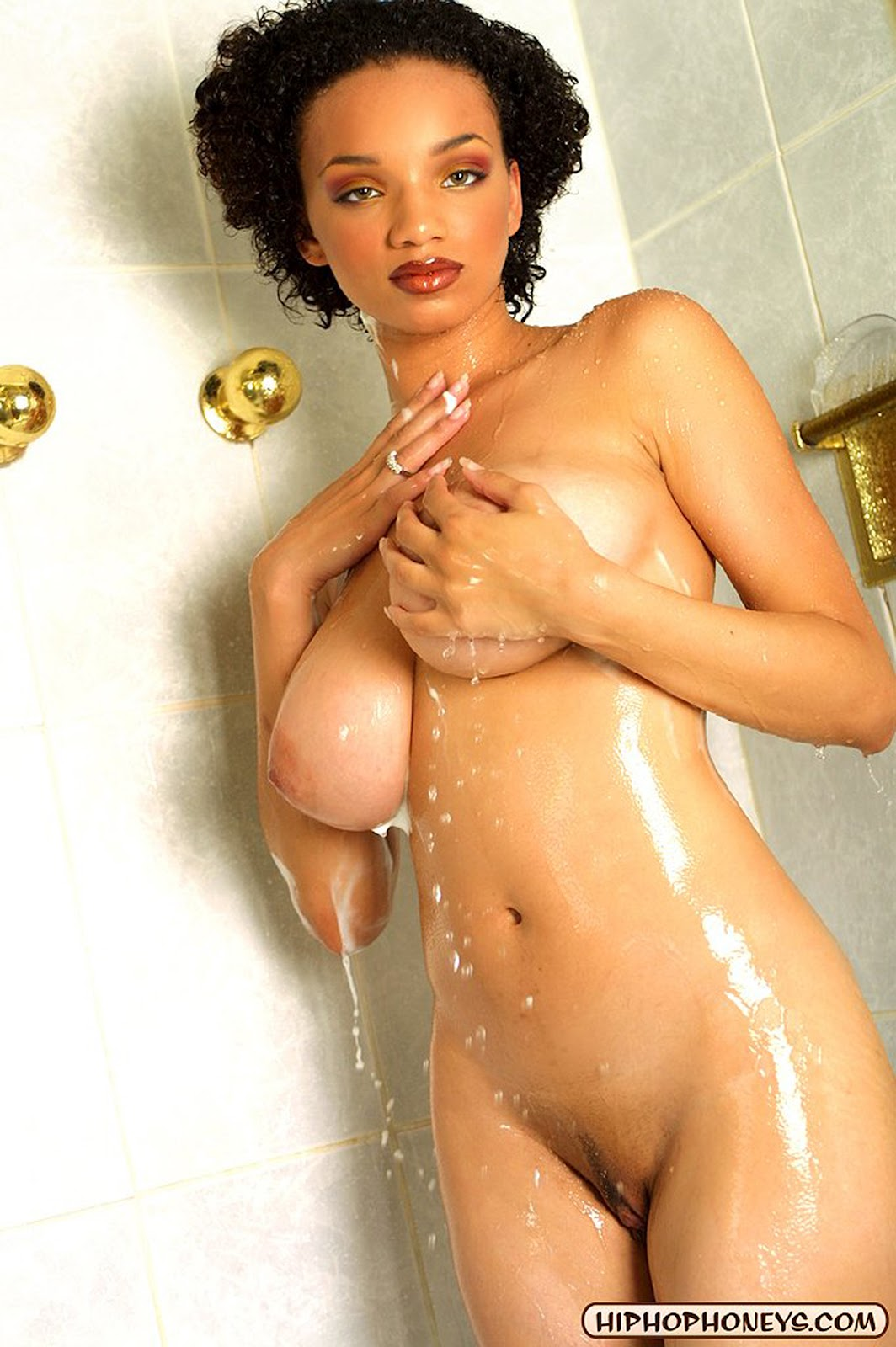 black girls naked in the shower