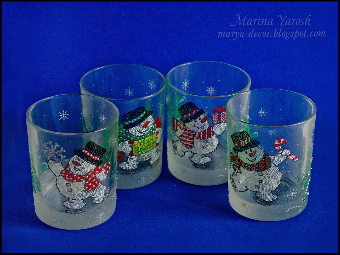 Расписные стаканы своими руками