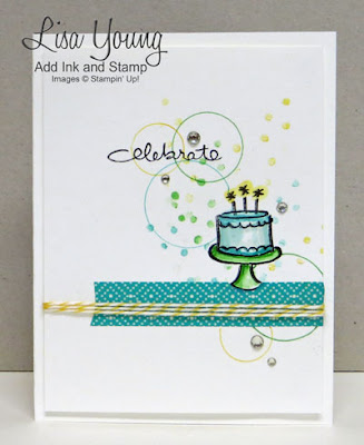 Stampin' Up! Endless Wishes stamp set. Clean and Simple birthday card. Handmade card by Lisa Young, Add Ink and Stamp