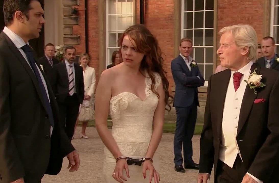 Corrie becky and steve wedding dresses