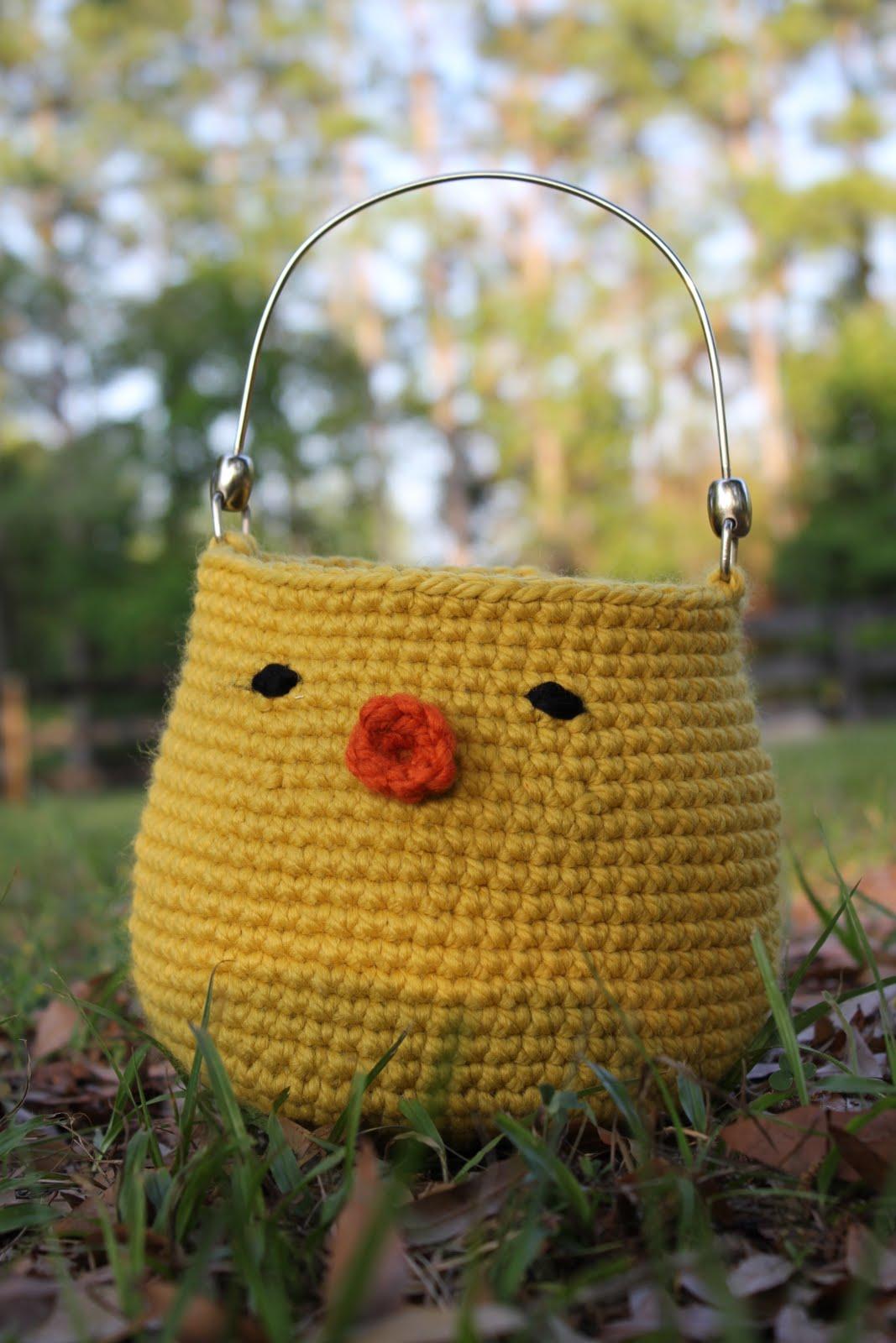 Free Crochet Pattern For Easter Basket : Handmade Easter Craft along ? Day one: Crochet Chick ...