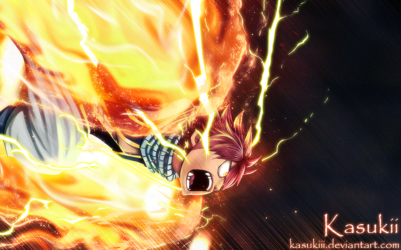 natsu dragneel lightning flame dragon mode fairy tail anime hd ...