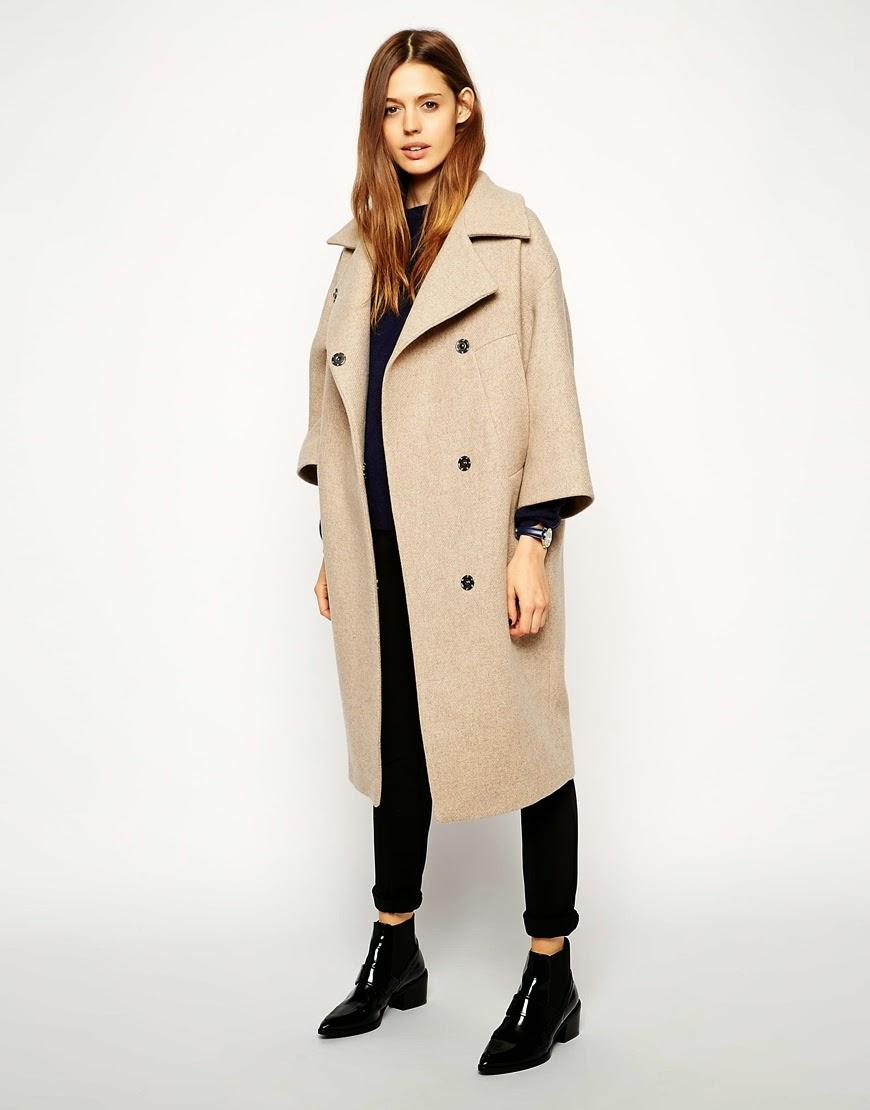 camel coat with kimono sleeve