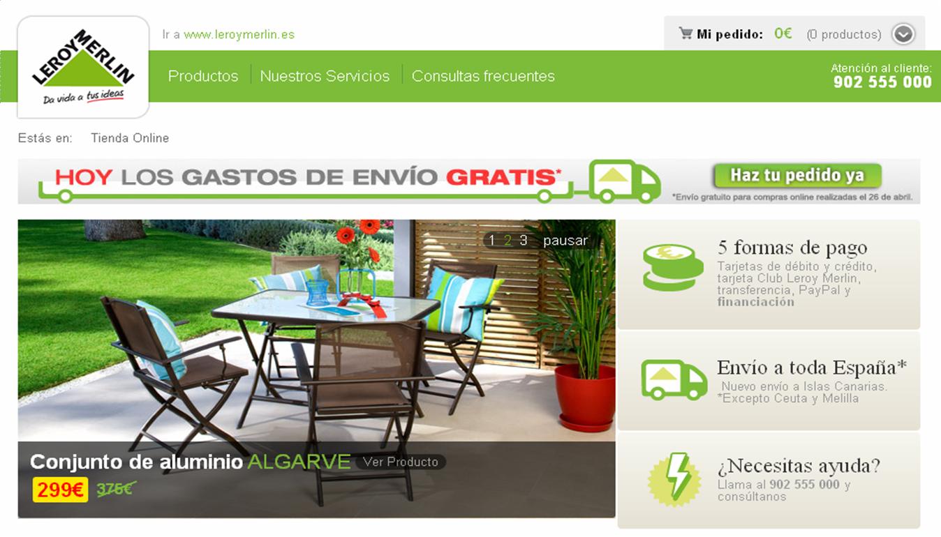 Decoracion mueble sofa tienda online de leroy merlin for Leroy merlin madrid catalogo