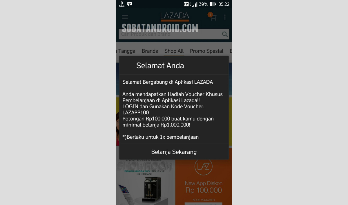 Download Voucher Lazada Oktober 2015