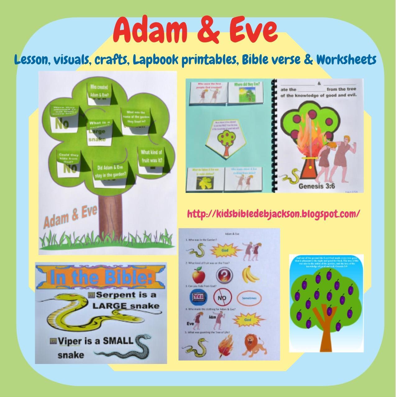 Genesis adam amp eve lesson ideas and printables biblefun