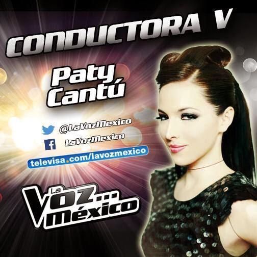 Paty Cantú es conductora de La Voz México 2014