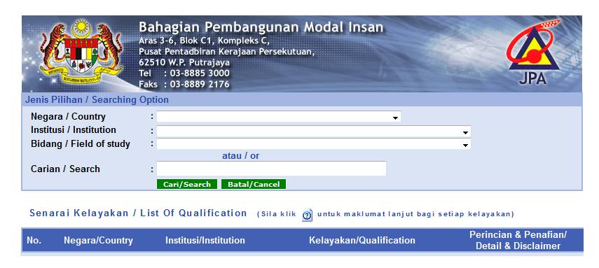 Is My University Qualified For Jpa Loan Pendidikanmalaysia Com