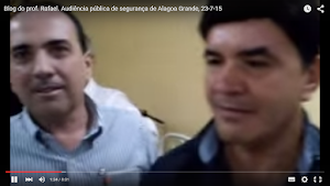 Vídeo com as entrevistas do professor Rafael com Major Jomário, Bôda e Beto
