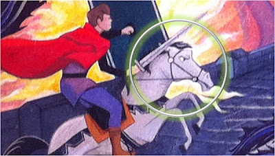 Samson horse Disneyland painting