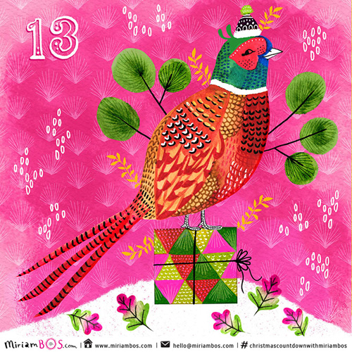 Christmas Calendar Illustration : My owl barn xmas advent calendar illustrations part iii