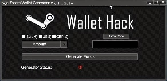 Download Mac. Steam Wallet Generator V 6.1.1 2014