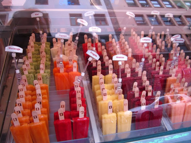 Gelato popsicles in Florence, Italy.