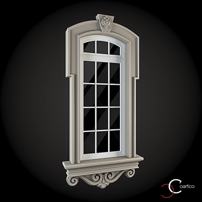 Ornamente Geamuri Exterior, fatade case cu profile decorative polistiren, profile fatada,  Model Cod: WIN-038
