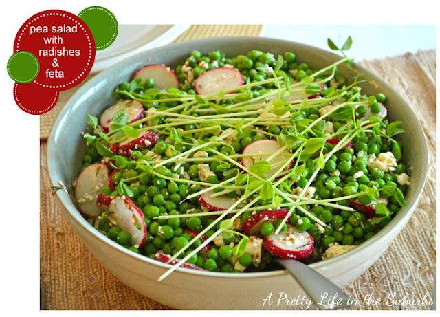 Pea Salad with Radishes & Feta