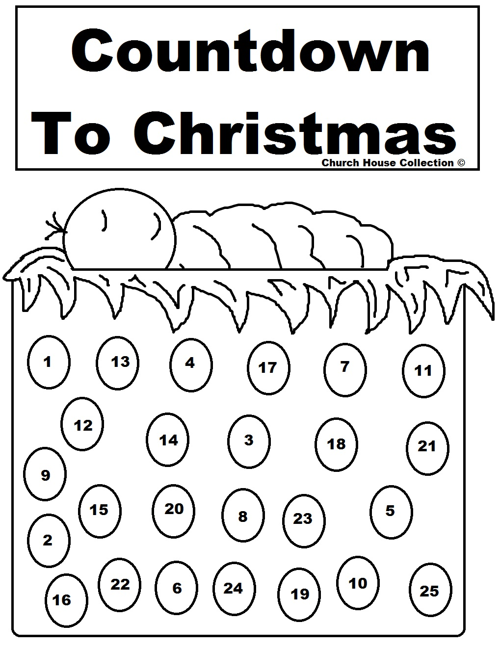 calendariucom nativity advent calendar countdown to color countdown to christmas - Advent Coloring Pages
