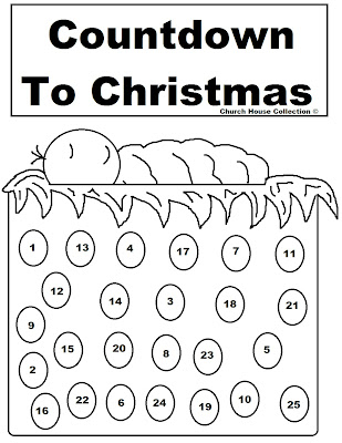 Advent Calendar Clip Art Black and White