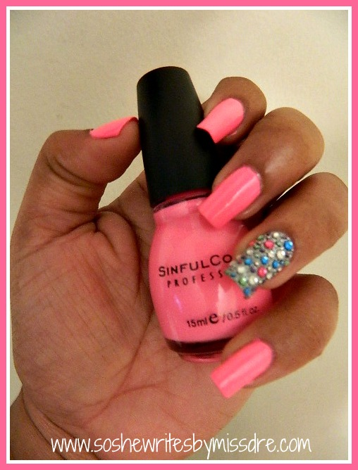 Pink Wednesdays: Neon Bling - So She Writes by Miss Dre | A Beauty + ...