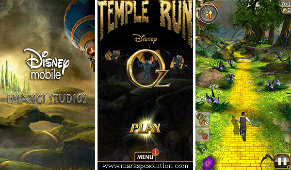 Temple Run Oz Initial Screen