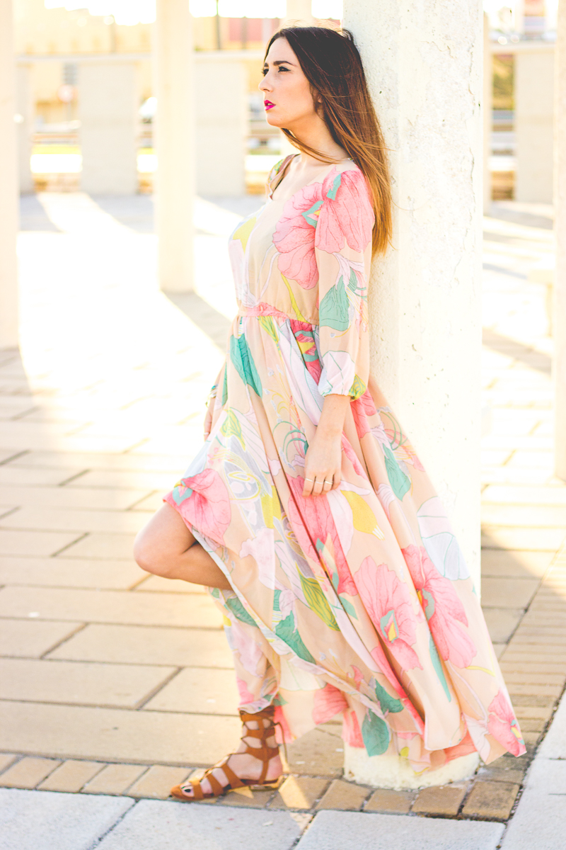 elegant maxi dress