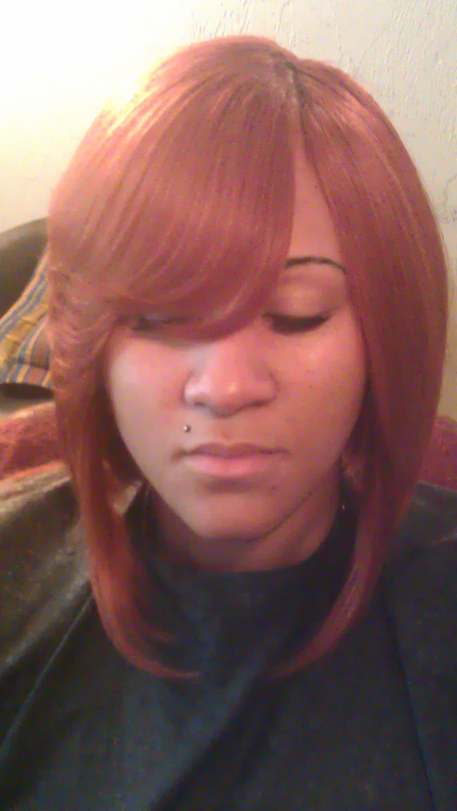 A Quick Weave with Side Bang Bob Hairstyle