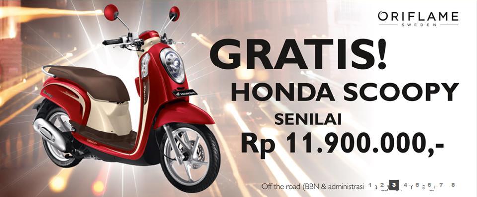 Motor Honda Scoopy pertama Heni Bakara