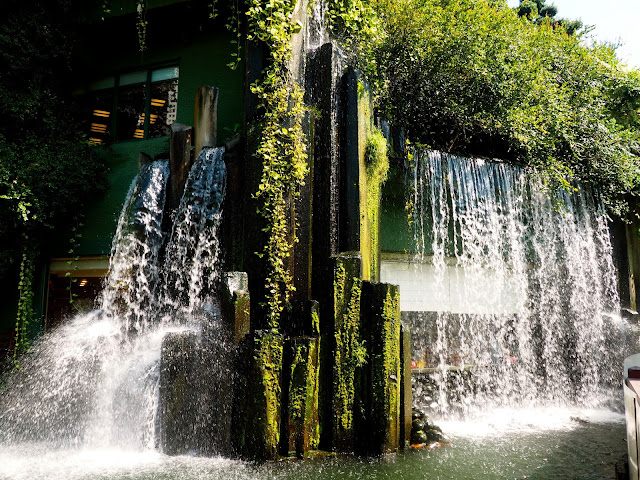 Waterfall feature in Nan Lian Gardens, Kowloon, Hong Kong
