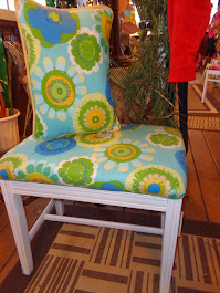 Sunroom Stool and Pillow