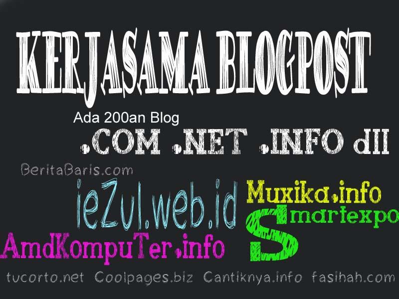 Kerjasama Blogpost