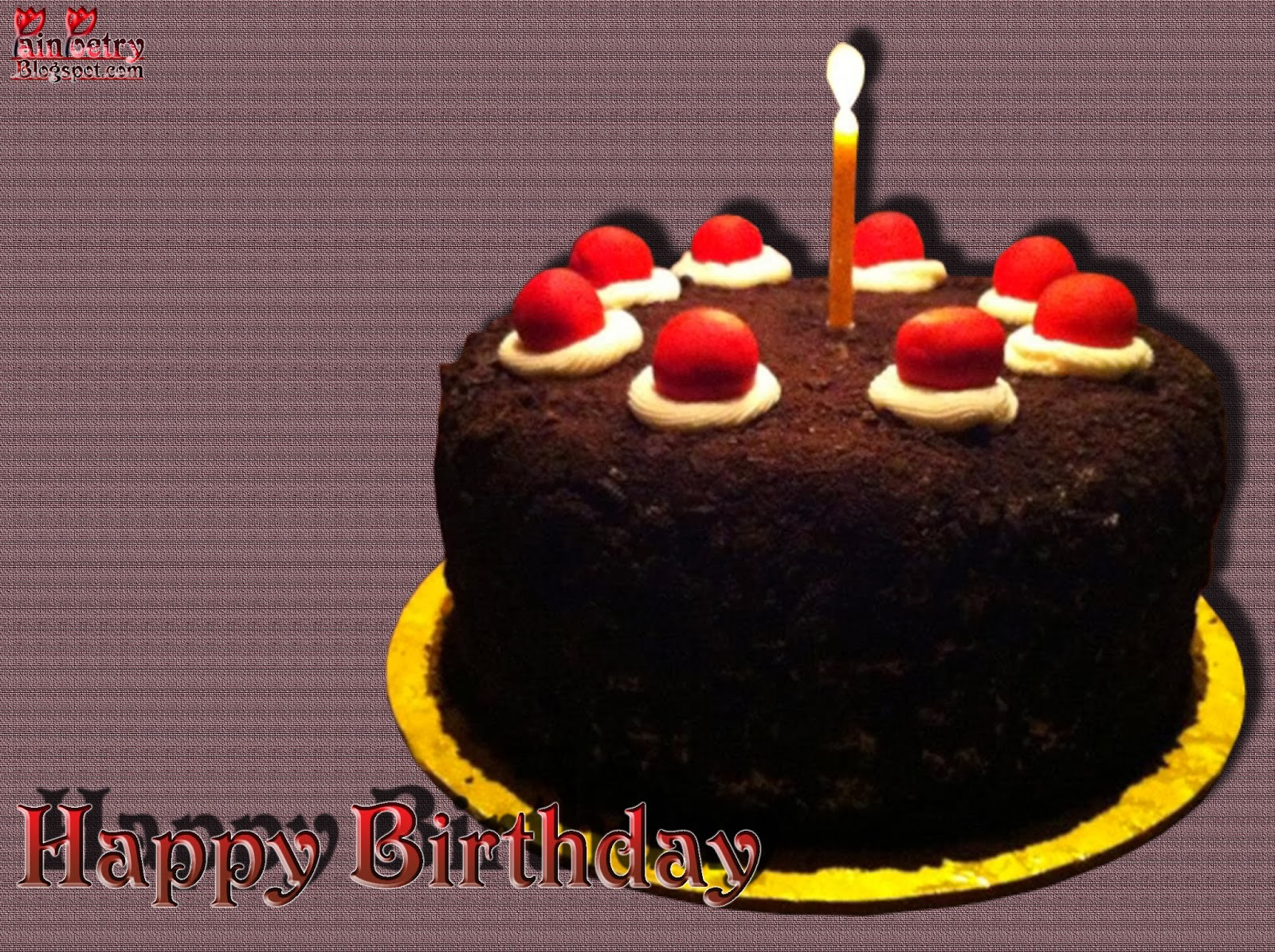Happy-Birthday-With-Chocolate-Cake-Image-With-Candle-Image-HD-Wide