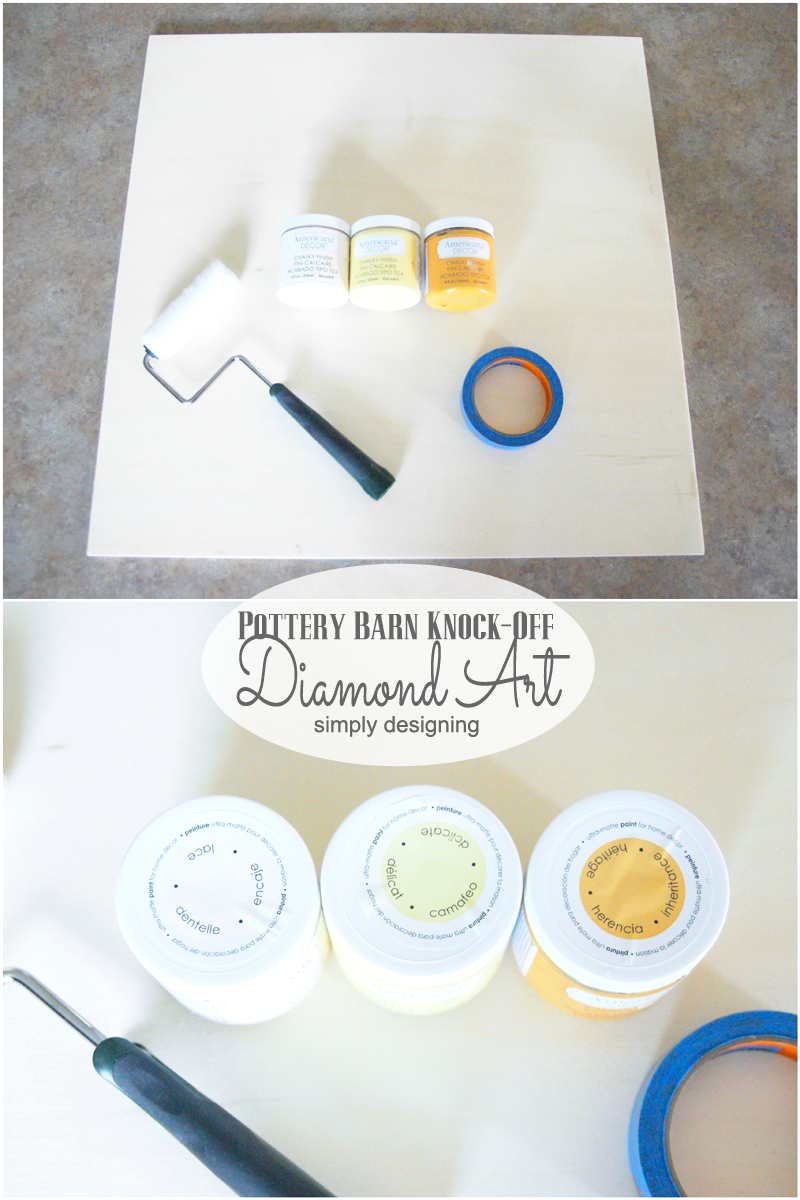 Pottery Barn Knock-Off Diamond Art | you'll be amazed at how simple this is to recreate for a fraction of the cost!  Come and check it out, and pin for later!  | #knockoff #knockoffdecor #wallart #homedecor #pbknockoff