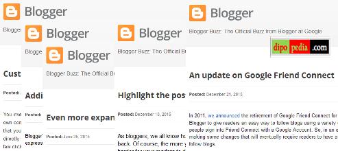 Ilustrasi Pembaruan Fitur Blogger Sepanjang Tahun 2015 - dipoPedia