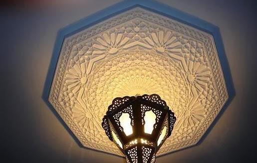 D coration salon marocain derniers mod les de plafond for Decoration gypse marocain