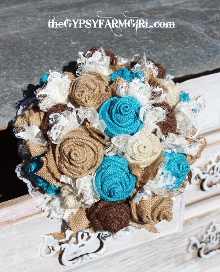 Rustic Wedding Farm Brides Bouquet