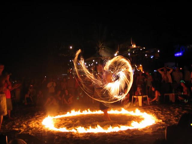 Full Moon party Koh Phangan Thaiföld Thailand Firedance