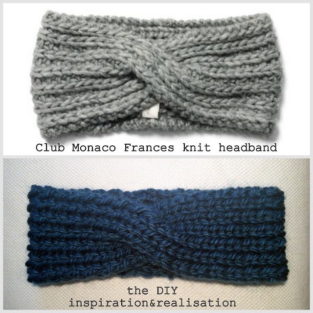 Knitted Hair Band Patterns : inspiration and realisation: DIY fashion blog: DIY double sided twisted headband