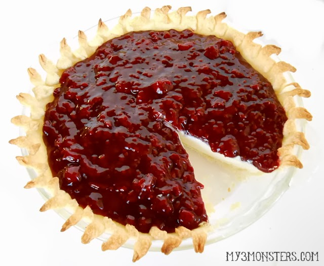 """Cream Cheese """"Christmas"""" Pie at my3monsters.com"""