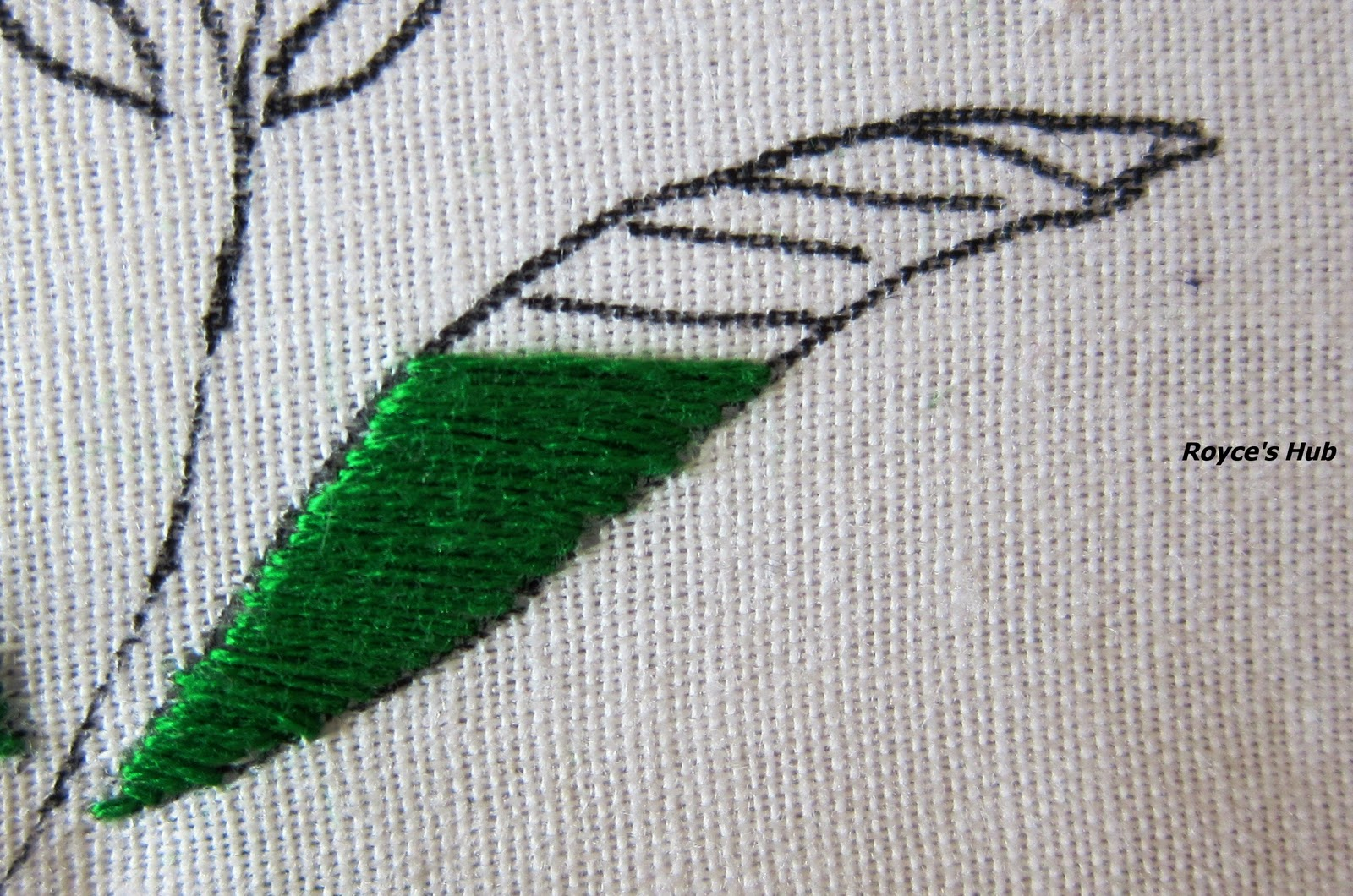 Royce s hub basic embroidery stitches satin stitch